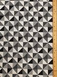 Black and white cubes Fabric UK 80% Cotton 20% Poly material upholstered feel - Price Per Metre
